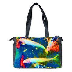 Blue Fish Diaper Bag