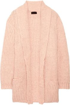 66de8f00d83d Hatch Ribbed Wool And Cotton-blend Cardigan - Pastel pink