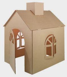 Készítsünk otthon a gyerkőcöknek kartonból házikót. Szerezzünk be nagy kartondobozokat (pl. tv, hűtőgép doboza) vágjunk ki ablakokat, ajtó...