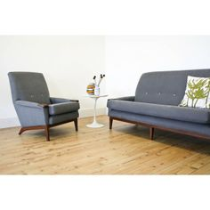 Here is the matching chair with the sofa, both available now!! Love the Teak 'Paws' on the tips of the arms, great touch! http://www.johnnymoustache.com/our-collection/vintage-furniture-2/1960s-greaves-and-thomas-armchair.html
