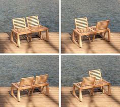 garden furniture, wooden bench