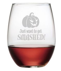 Pumpkins don't like to get smashed, but perhaps you do?!  Do it in style this Halloween with these cute glasses!