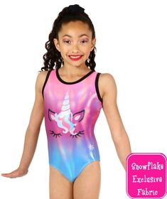 This magical Unicorn leotard will make dreams come true! This sublimated leotard has playful unicorn artwork over a beautiful ombre of pinks, purples, and blue. The body of this girls gymnastics leotard is a Starlet material for top-notch shine and is tri Artistic Gymnastics Leotards, Gymnastics Set, Amazing Gymnastics, Gymnastics Outfits, Gymnastics Equipment, Frozen Mermaid, Gym Leotards, Girly Girl Outfits, Cake Recipes
