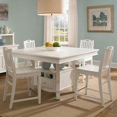 white counter height table. Mirren Harbor 5 Piece Counter Height Table With Stools Set By Broyhill Furniture - Olinde\u0027s White S