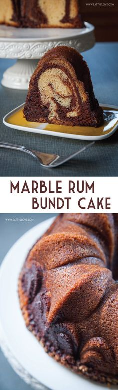 This Marble Rum Cake is easy to make and packed full of rum flavor because it uses 3 types of rum in it making sure it every bite is moist and tender.