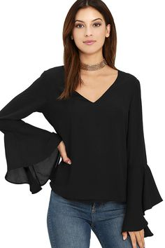 a6ede503c4bbc0 Contented Sigh Black Long Sleeve Top