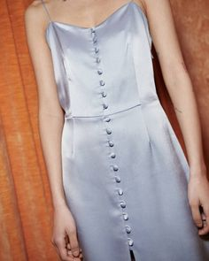 MABEL - Button down mini slip dress - Ice Blue Ice Dresses, Satin Dresses, Mini Slip Dress, Button Dress, Bridesmaid Dresses, Wedding Dresses, Hot Dress, Fast Fashion, Burberry