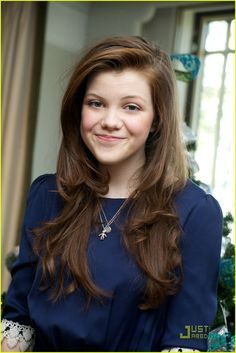 Georgie Henley (also known as Lucy Pevensie).  :)  I love her name, and the character she plays in The Chronicles of Narnia.  Plus, she's such a pretty girl!