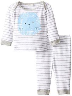 ABSORBA Baby-Boys Newborn Lion Loungewear, White, 3-6 Mon...