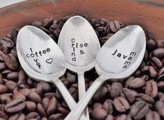 Vintage Hand Stamped Vintage Coffee Spoon | jessicandesigns