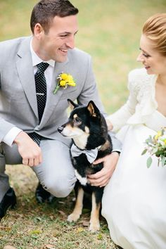 A couple and their dog by Brooke Images | junebugweddings.com