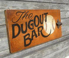 Style de Dugout Baseball Brew Pub signe en par ZekesAntiqueSigns