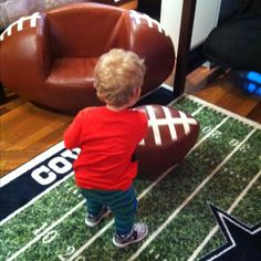 Football chair at Rooms to Go