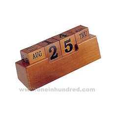 Perpetual calendar blocks.