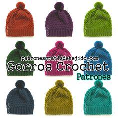 Crochet y Dos agujas: Gorros para tejer al crochet / Aprende a tejer
