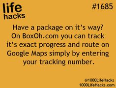 Track that box!