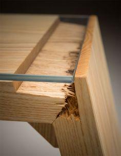 Broken: zerfasertes Holz-Design | tische | Pinterest