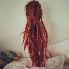 Dreads. #dreads #redhead #red hair #red head