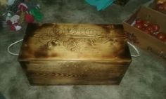 "Box customized with name and pic great for gift. 24"" long 12"" deep and 12 tall. www.facebook.com/philswildwoodcreations"