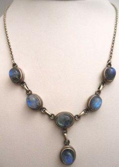 June: Stunning 925 Sterling Moonstone Gem Necklace