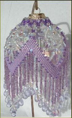 Lavender Flower is an adaptation of a pattern from ThatBeadLady.com called Grace. Stitched by Susan H.
