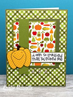 I wasn't sure if I was going to use the vegetable paper in the fall Doodlebug 6x6 paper pad. But it seemed to work perfectly for the newest...