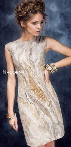 Diana Nagorna Winter Dresses, Evening Dresses, Wool Dress, Costume Design, Wool Felt, Nuno Felting, Lana, Bridal Gowns, Dress Skirt