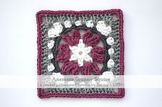 Anemone Granny Square | Free crochet pattern by Emmy+LIEN