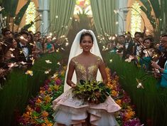 Here's how you can get your hands on the bridesmaid dress from the notorious 'Crazy Rich Asians' wedding scene Movie Wedding Dresses, Wedding Movies, Wedding Scene, Crazy Wedding Dresses, Jazz Wedding, Bling Wedding, Wedding Rings, Asian Bridesmaid Dresses, Asian Wedding Dress