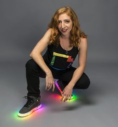 LED Sneakers, DIY, shoes, sneakers, light up shoes, Becky Stern (of Adafruit Industries)