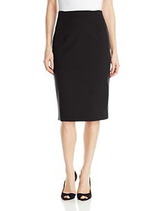 Ellen Tracy Womens High Waist Pencil Skirt E Black 10 -- You can get more details by clicking on the image.