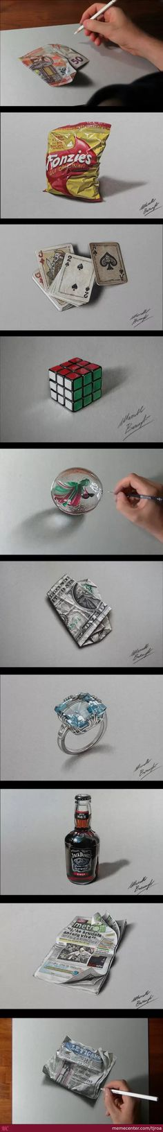 Hyper Realistic Drawings By Marcello Barenghi
