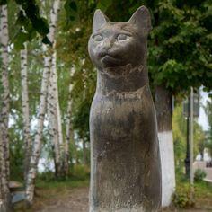 Памятник кошке Плёс начало сентября  #памятниккошке #плёс