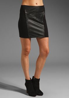 BB Dakota - Kerry Ponte and Leather Miniskirt - $105.00 - Click on the image to shop now