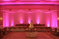 8 ways to make your Quinceanera head table stand out!  2.Set up your head table on a stage. The height will bring the attention to you.