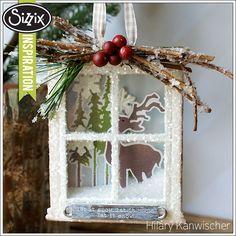 Sizzix Die Cutting Inspiration | Woodland Window Box Ornament by Hilary Kanwischer