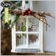 Sizzix Die Cutting Inspiration | Woodland Window Box Ornament by Hilary Kanwischer