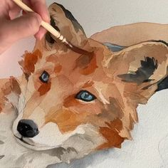 watercolor paintings rabbit illustration Fox 🦊 using Polina bright synthetic brush n. Watercolor Video, Watercolor Paintings, Watercolor Horse, Fox Art, Sketch Art, Animal Paintings, Art Techniques, Art Tutorials, Painting & Drawing