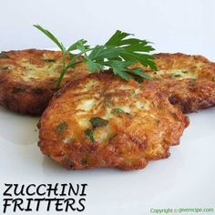 Zucchini and feta fritters are always a hit! The easiest appetizer ever! | http://giverecipe.com |