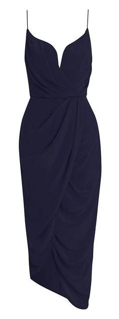 Silk Plunge Dress