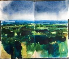 @davidparfittRI Day 10 #DrawingAugust sketched this on the way home yesterday & coloured in today, 'looks like rain'