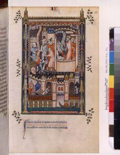 1317 Français 2092, fol. 32, Saint Denis emprisonné