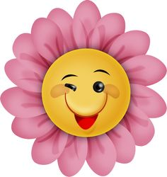 "Photo from album ""Summerfun"" on Yandex. Cute Clipart, Flower Clipart, Smileys, Smiley T Shirt, Happy Sunshine, Cute Cartoon Pictures, Flower Designs, Painted Rocks, Flower Art"