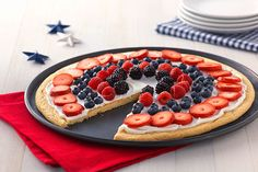 Easy Patriotic Fruit Pizza