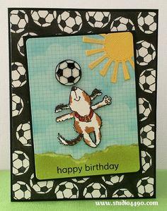 Soccer/Dog Happy Birthday (Penny Black)