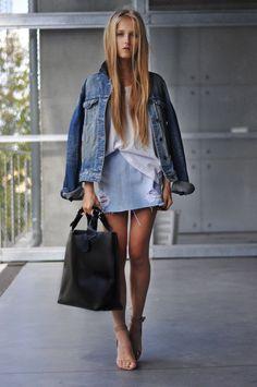 Blusa/Blouse: Vintage Falda/Skirt: Topshop Flats: H & M Bolso/Bag ...