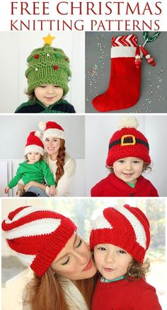 Baby Knitting Patterns Christmas Free Christmas Knitting Patterns by Gina Michele Easy Knitting Patterns, Knitting For Kids, Loom Knitting, Free Knitting, Knitting Projects, Baby Knitting, Crochet Projects, Free Christmas Knitting Patterns, Cowl Patterns