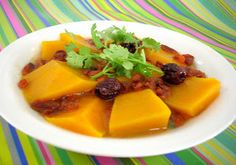 The Modern VEGETARIAN - Recipes: Steamed Japanese Pumpkin with Wolfberries