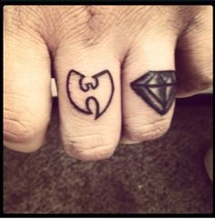 Wu tang,finger tattoo,diamond,black and grey tattoos wutang ,wutang tattoo,finger tatty