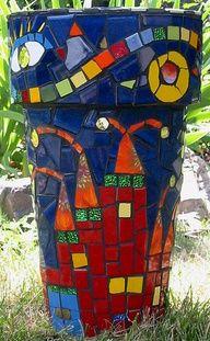mosaic planter | Mosaic planter.